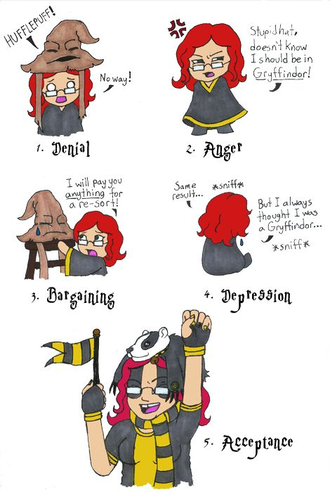Hp Five Stages Of Hufflepuff Stages Of Grief Five Stages Of Grief Hufflepuff
