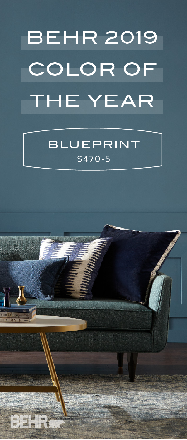 Enhance your home with the Behr 2019 Color of the Year, Blueprint. A ...