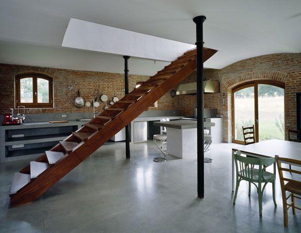 Italian barn modernes bauernhaus interieur lofts und studio