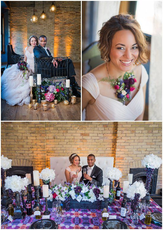 Check out the awesome vendors who came together to make our styled shoot of Onesto a reality. Part of our article: Milwaukee's Top New Wedding Venues. Photos by Reminisce Studio
