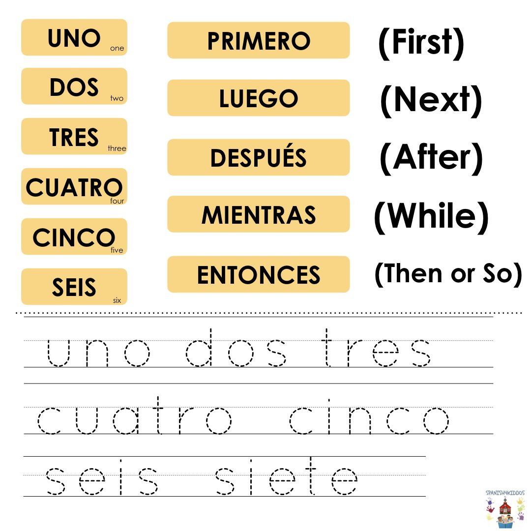 Spanish Numbers Practice For Bilingual Learners