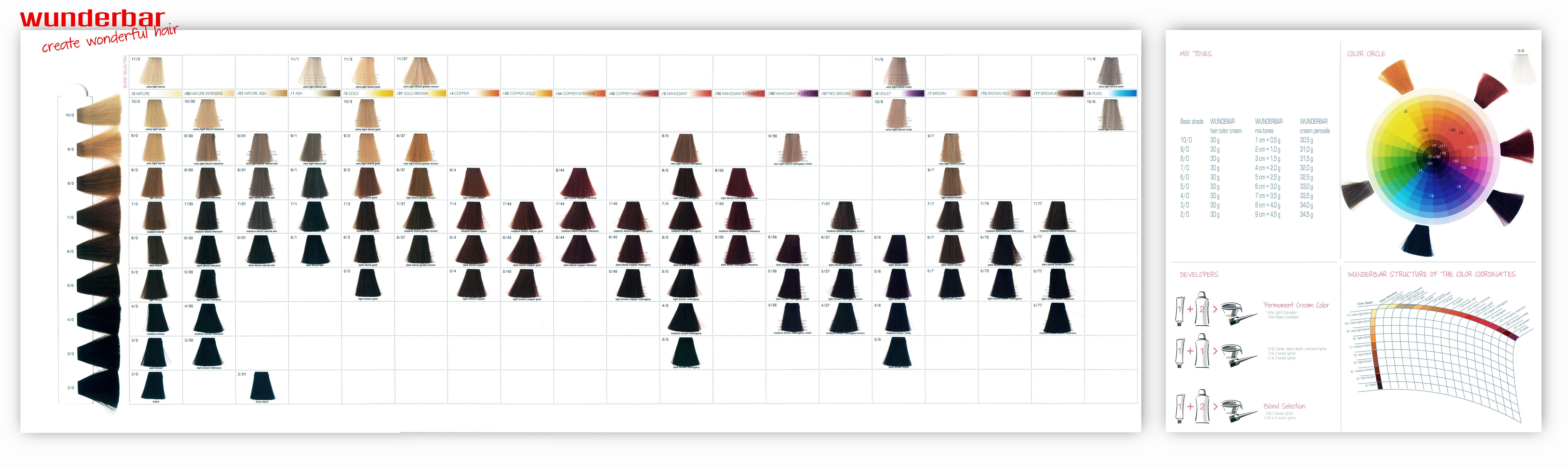 Wunderbar hair color cream color chart color charts pinterest wunderbar hair color cream color chart geenschuldenfo Gallery