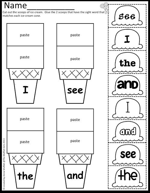 The Moffatt Girls: Sight Word Scoops! | Ideas for my PreK ...