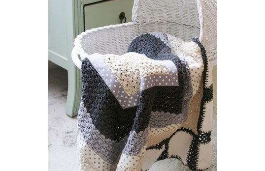 crocheted baby blanket.