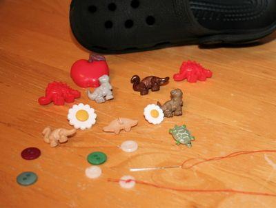 0735f4ebab6a Make your own croc Jibbitz-flat button slightly larger than crocs holes
