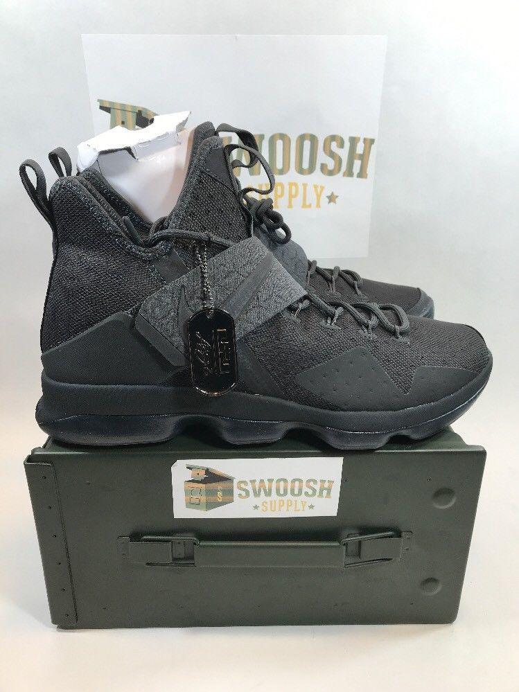 dac47ed2d590 Nike Lebron XIV 14 LMTD Zero Dark Thirty Black Anthracite SZ 12 852402-002   Nike  BasketballShoes