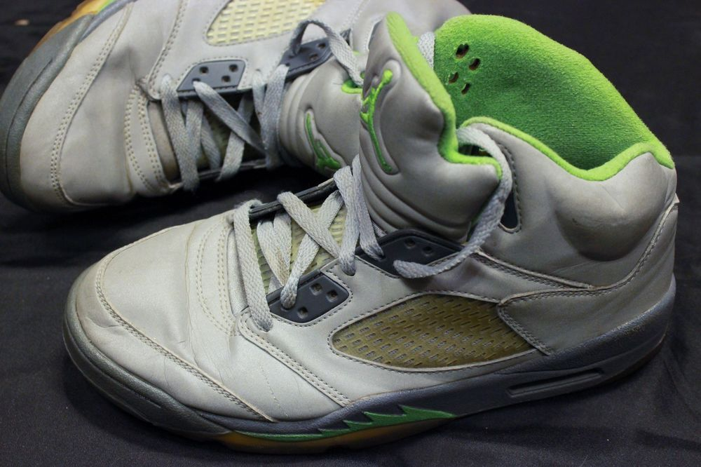 2b95ed6dd8 Nike Air Jordan 5 Retro Shoes Green Bean Silver Reflective Sz 7.5 136027  031 #Nike #AthleticSneakers