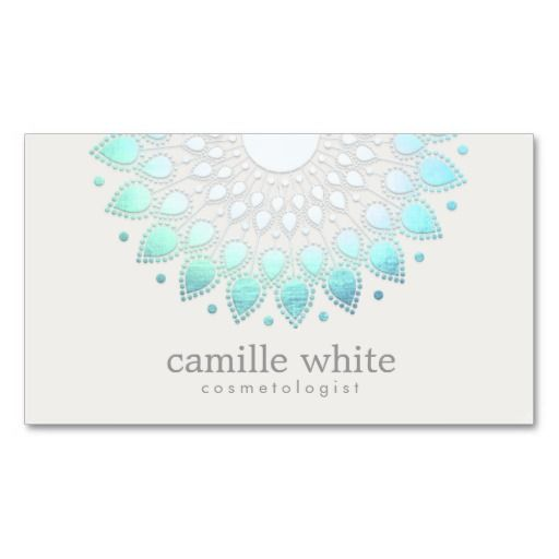 Cosmetology elegant circle light blue white spa business card cosmetology elegant circle light blue white spa business card reheart Choice Image