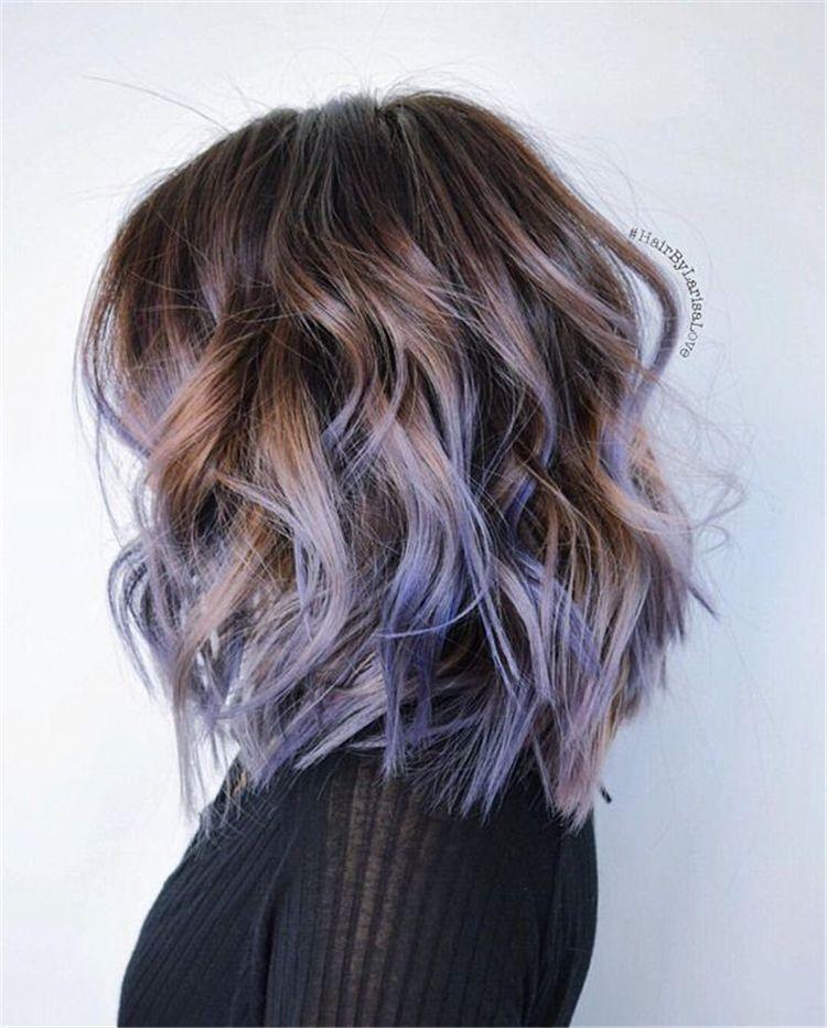 80 Chic Ombre Lavendel Frisuren mit Highlights Trend im Jahr 2019chic