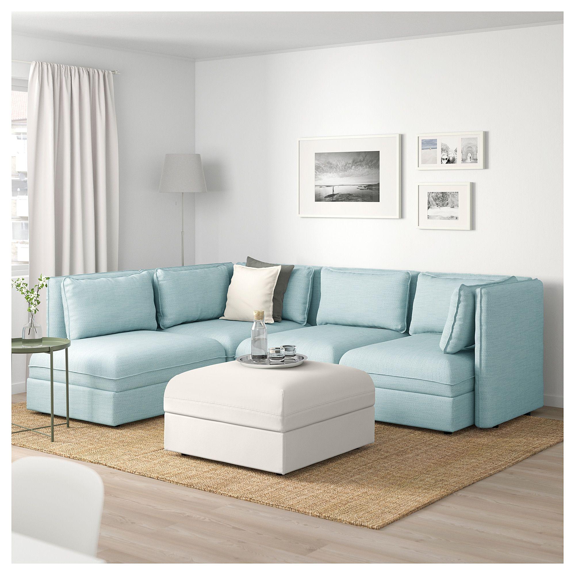 Modular Corner Sofa 4 Seat Vallentuna With Storage Hillared Murum
