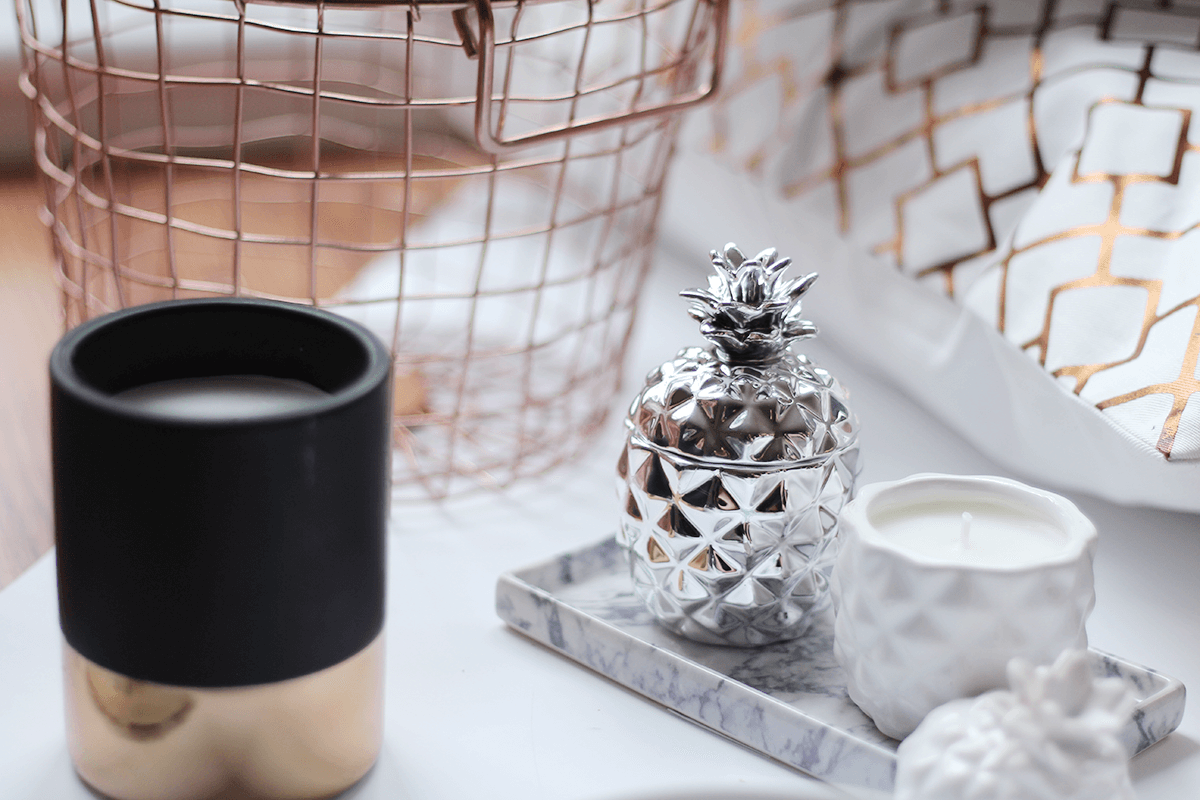 The H&M Home Haul H&m home, Copper, marble, Black candles