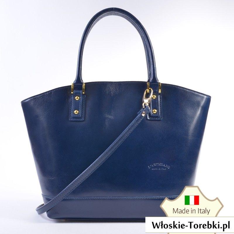 7c2b7a9e558d1 Ceremonia Shopper Bag Torebka 100% Skóra Koniak T4