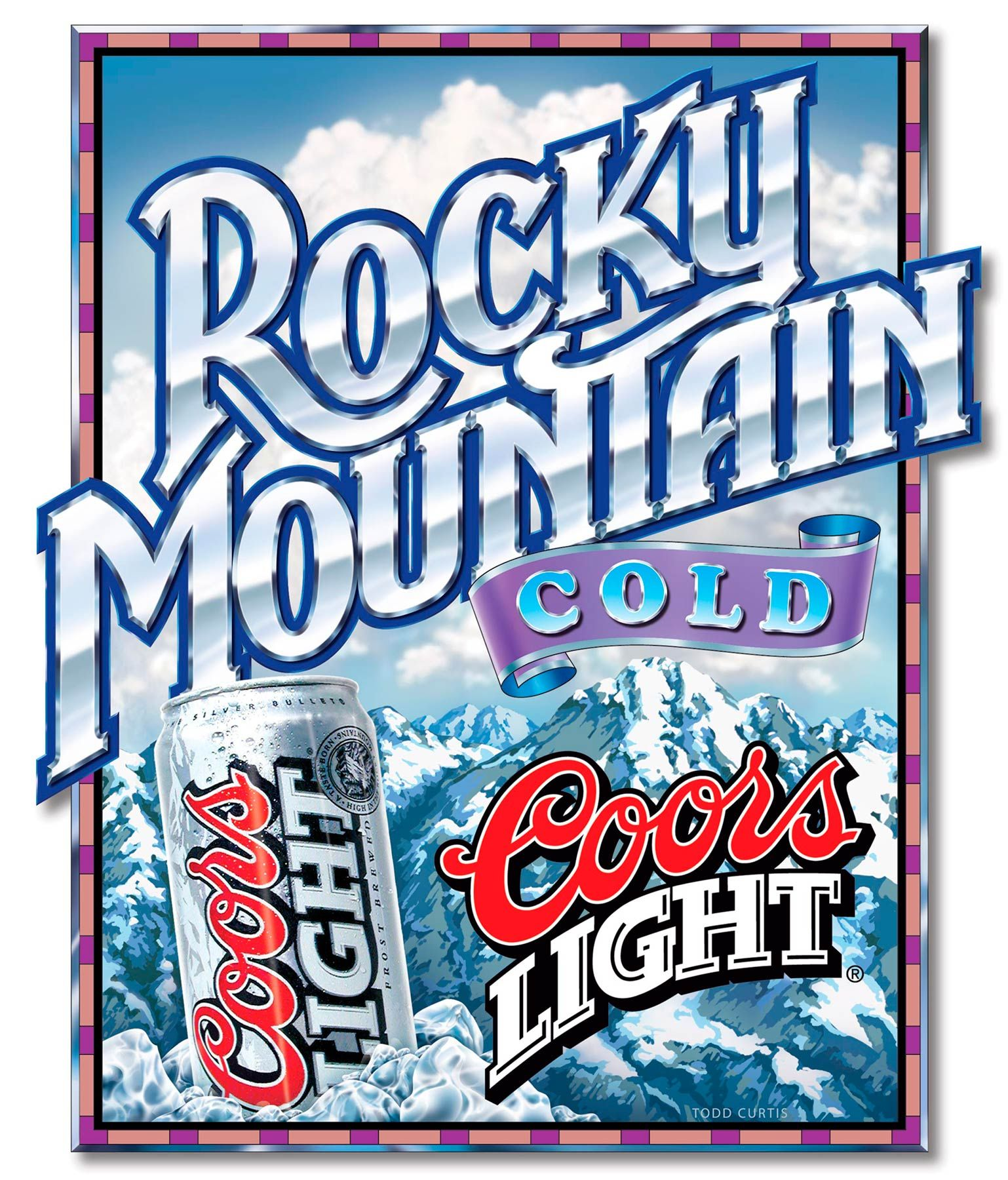 coors light poster lettering design