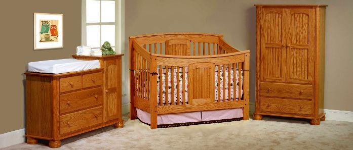 USA Made Eco Friendly Nursery Furniture, Amish Baby Furniture, Amish Cribs,  Organic Bedding