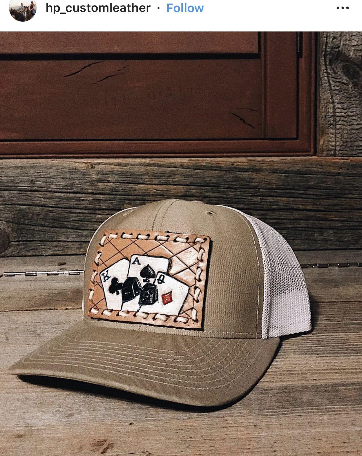 d4722929a Gray baseball trucker style cap leather cap patch custom leather cap ...