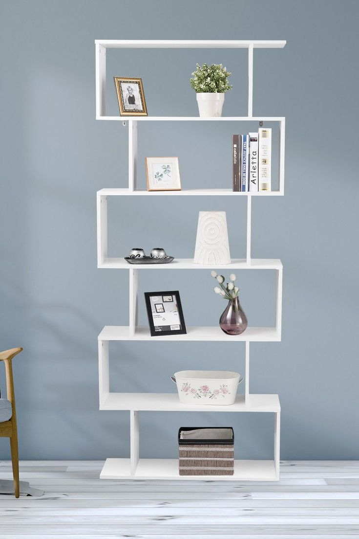 This 6 Tier Open Concept Bookcase With Modern Design And Durable Construction Is Very Stable Sturdy The Style Storage Shelves Can Not Only