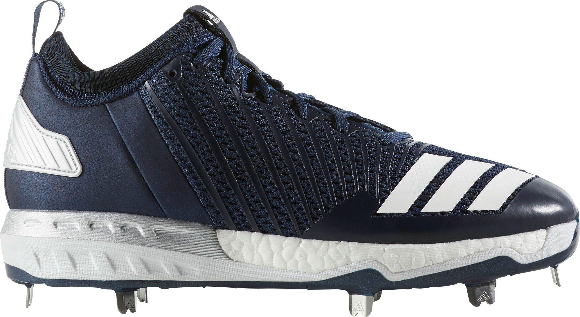 Metal Baseball Cleats, Size: 7.0, Blue
