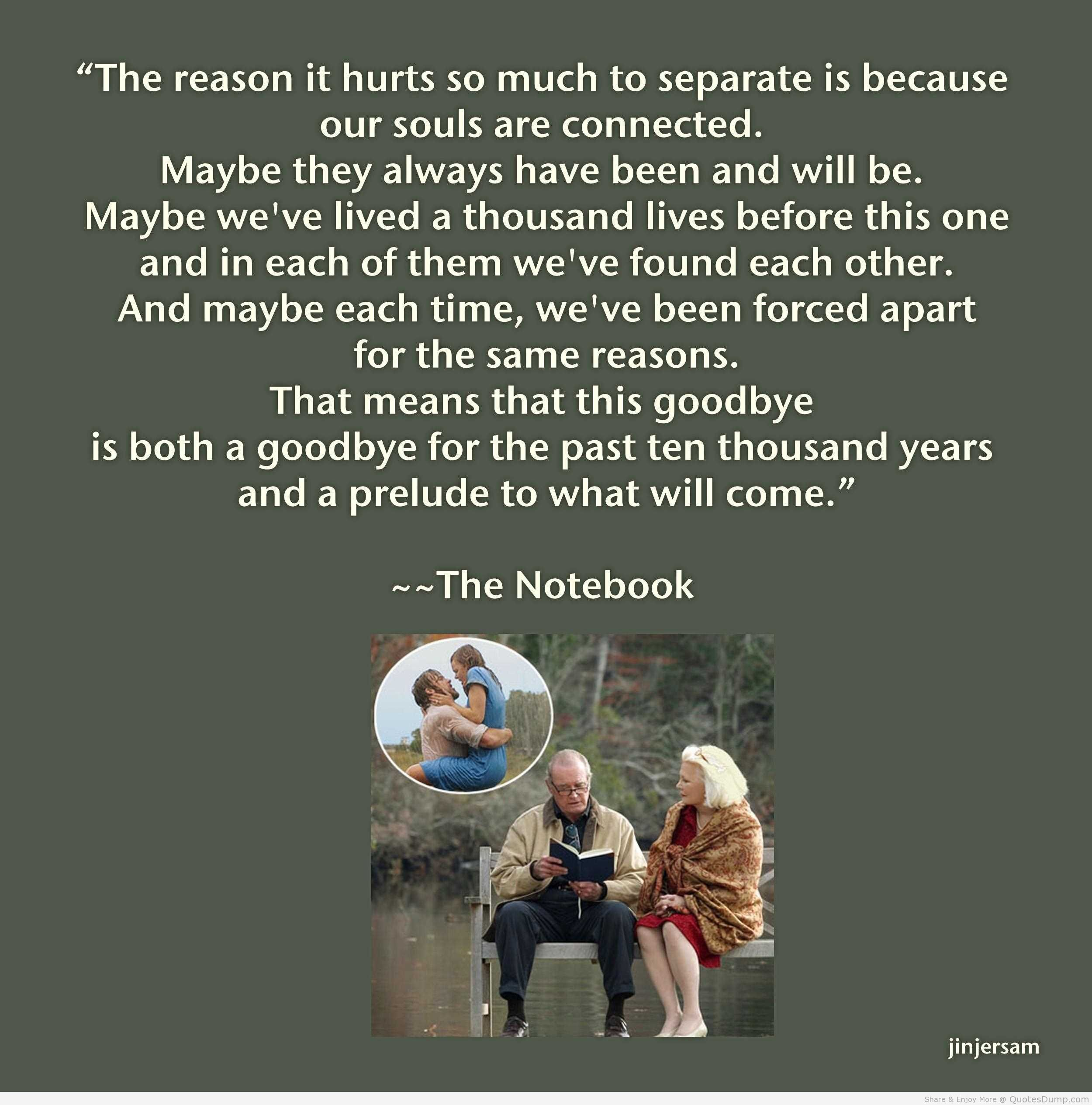 The notebook movie quotes about love