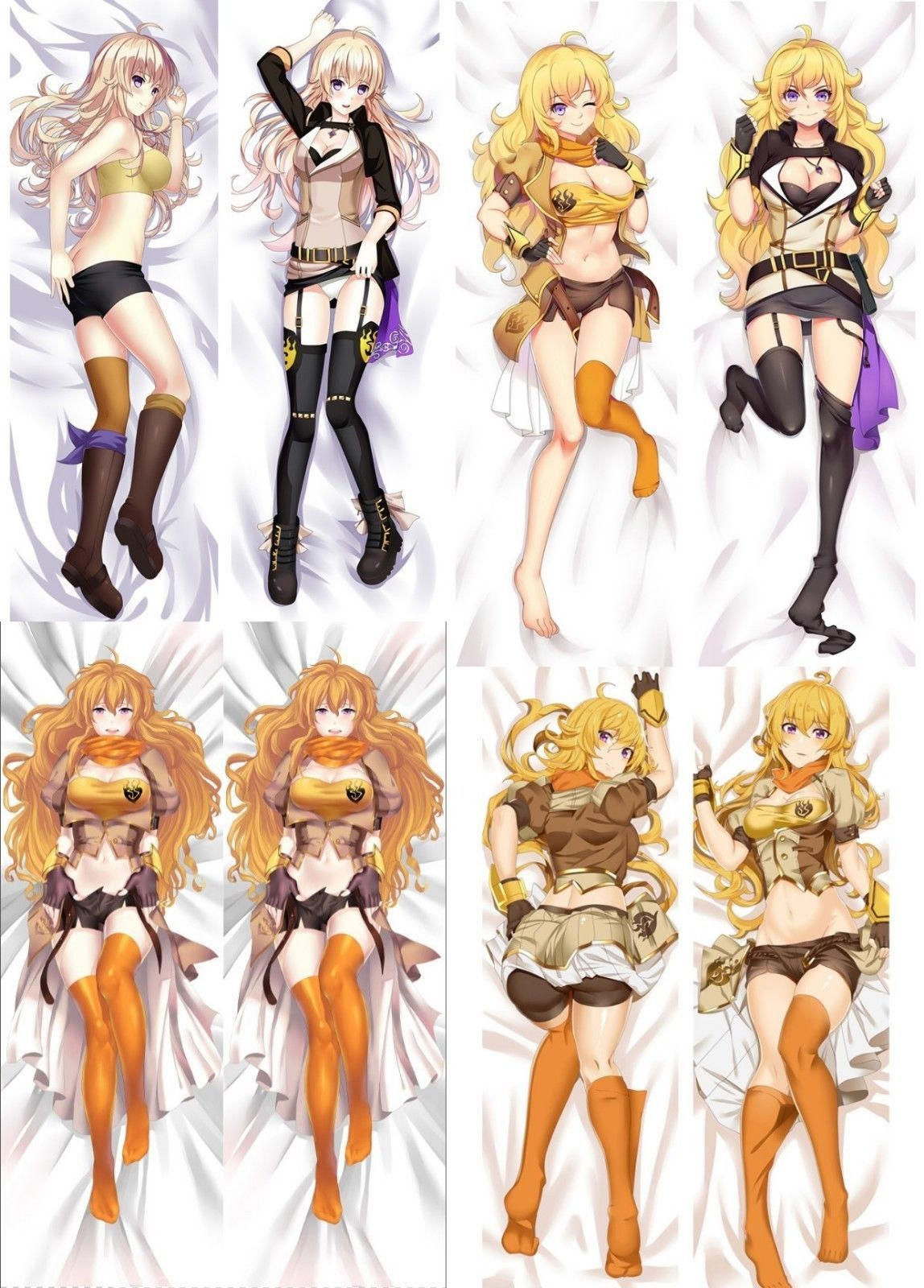 Rwby Yang Xiao Long Anime Dakimakura Hugging Body Pillow ...