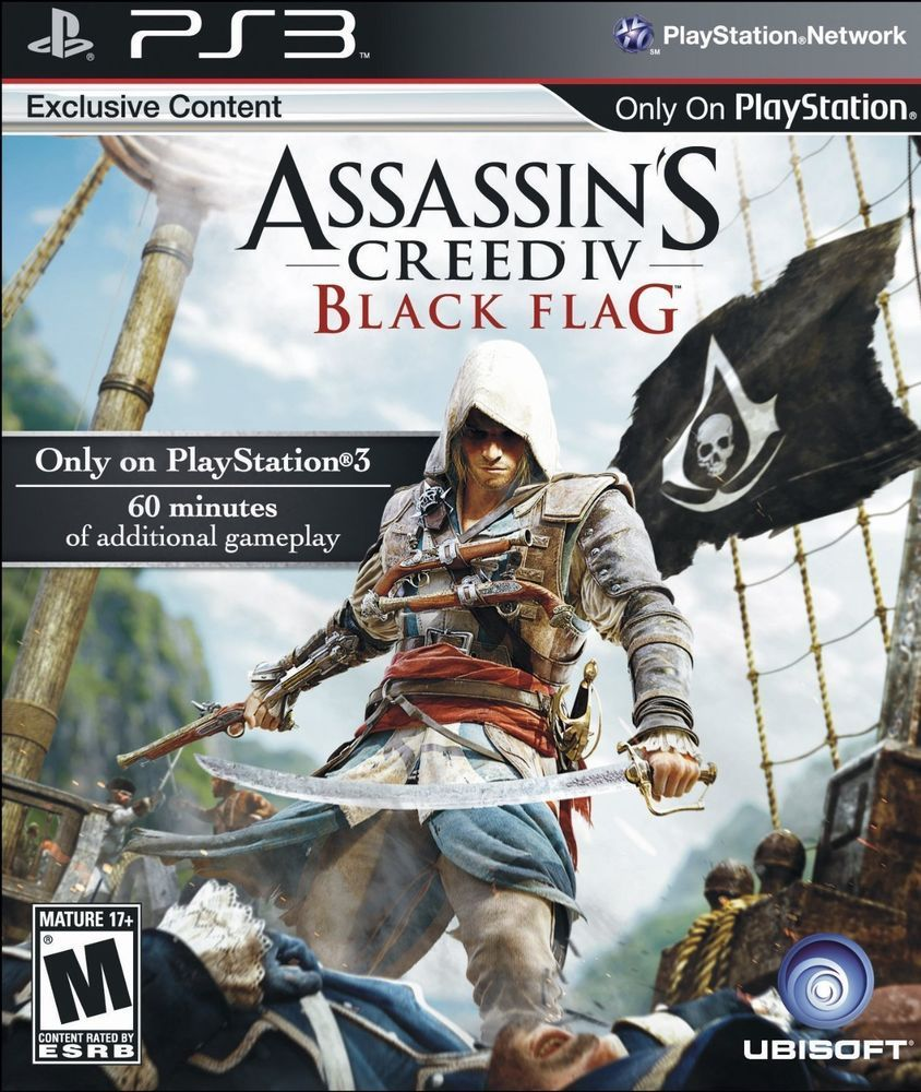 Brand New Ps3 Assassin S Creed 4 Black Flag Target Edition Ubisoft Assassins Creed Black Flag Assassin S Creed Black Black Flag