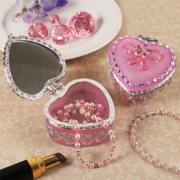 Heart Jewelry Box Home Heart Shaped Box Pink Jewelry Box