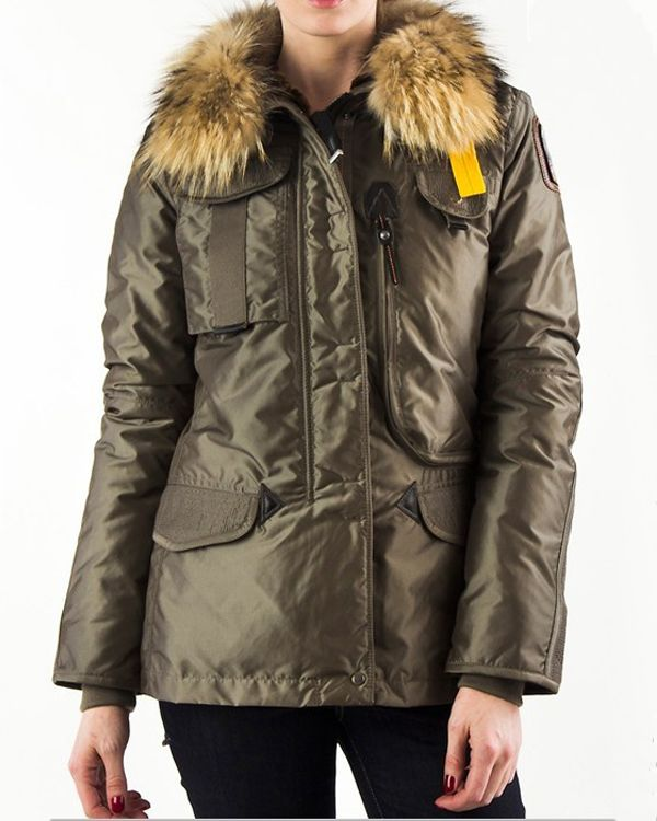 PARAJUMPERS New Denali Women Olive Masterpiece Down Jacket