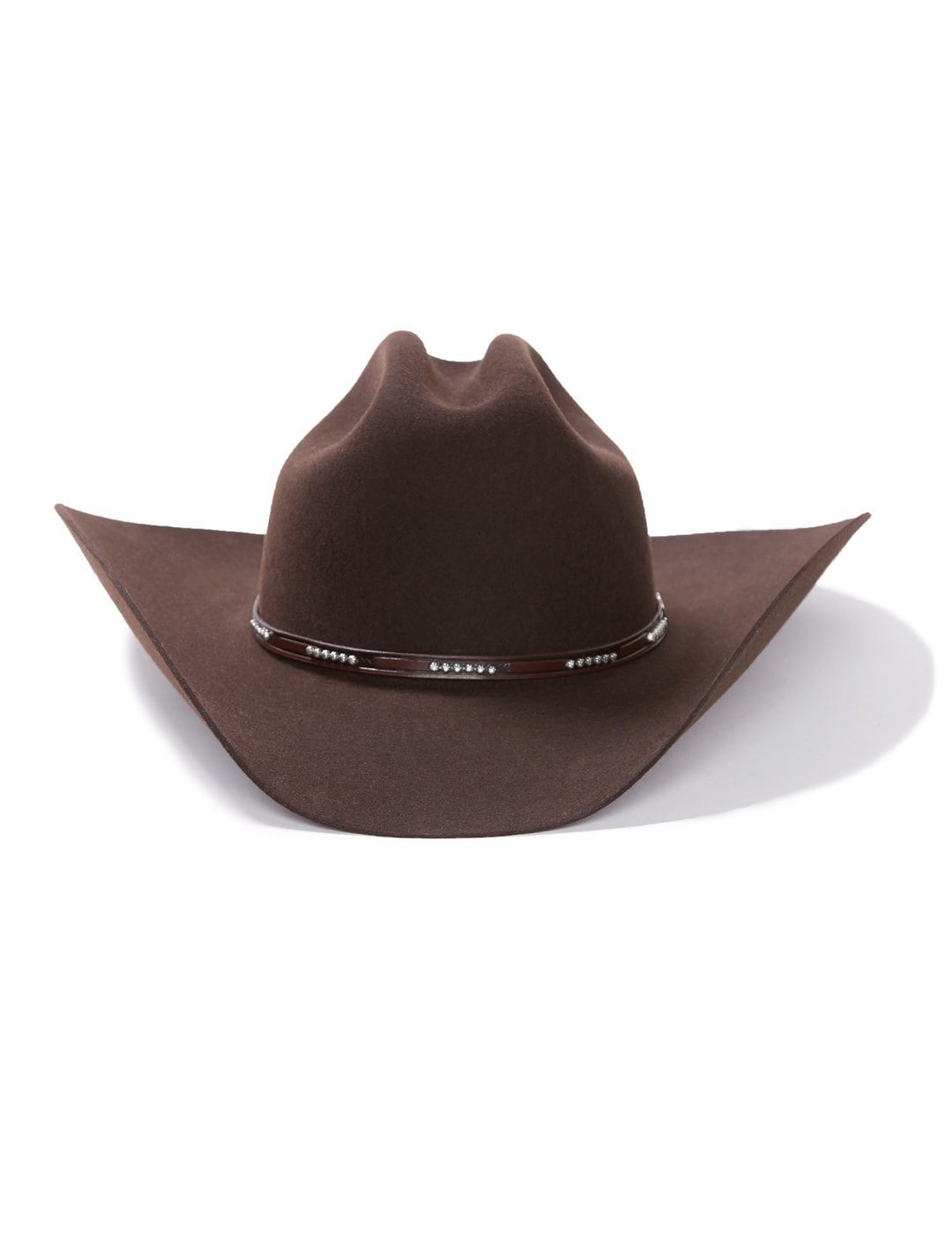 5ca399038cf Stetson LLANO 4X Wool Cowboy Hat Chocolate with Pinch Front Crown Item  SWLLNO-7239
