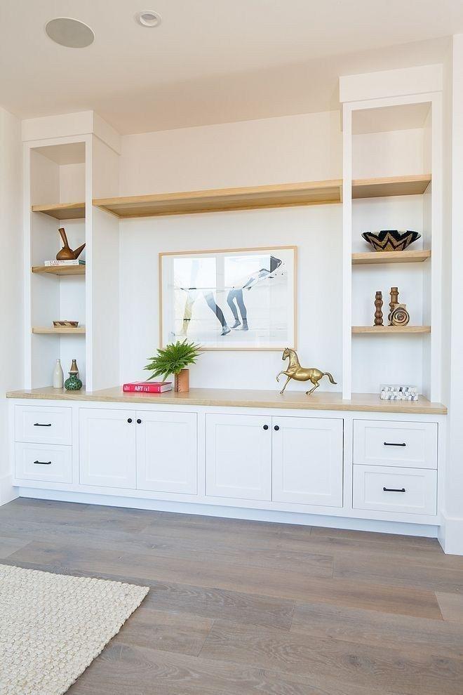 65 Lovely Cute Coastal Living Room Decorating Ideas 6 Transitional Living Room Design Built In Shelves Living Room Living Room Cabinets