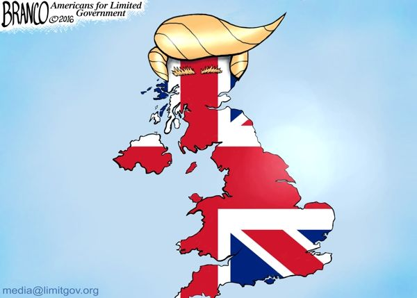 What's a good political cartoon idea for Great Britain, France, and the United States?