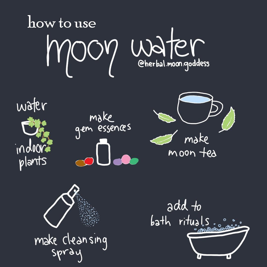"Herbal Moon Goddess on Instagram: ""I had so many questions about how to use moon water so here's some of my favourite ways! I'd love to hear how you use your moon water too…"""