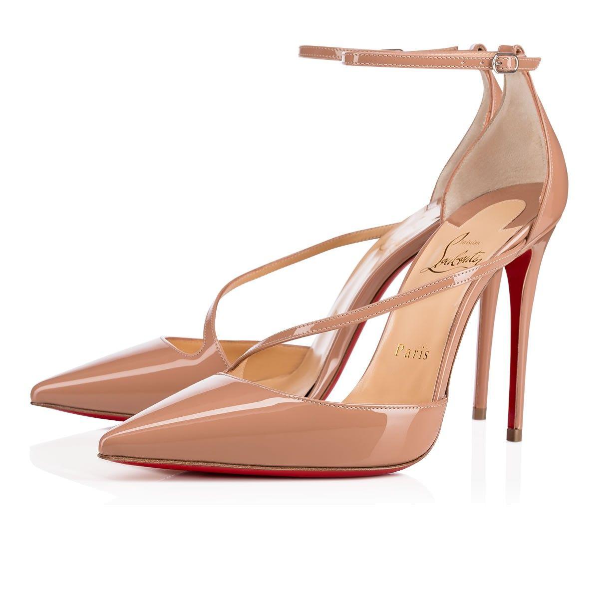 13c64814847 Fliketta 100 Nude Patent Leather - Women Shoes - Christian Louboutin ...