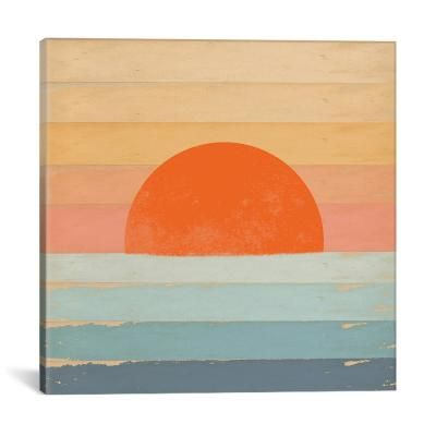 iCanvas Sunrise Over The Sea by Tammy Kushnir Canvas Wall Art TMK44-1PC3-26x26 - The Home Depot