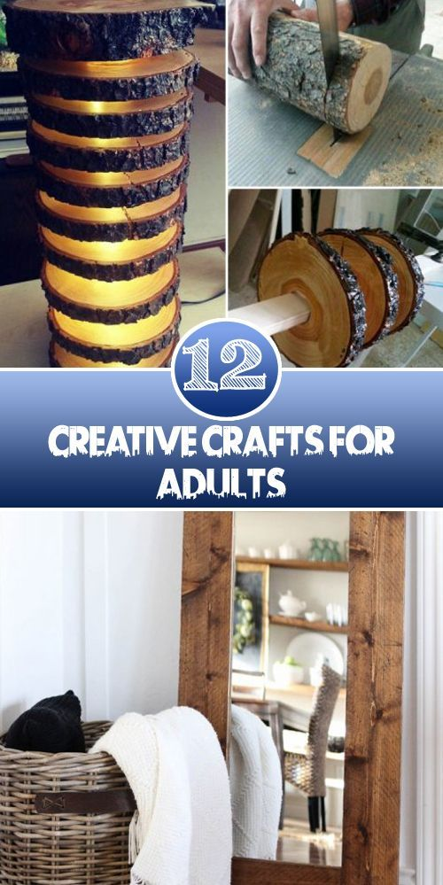 12 Creative Crafts for ADults  These Easy Craft Projects For Adults are somewhat...