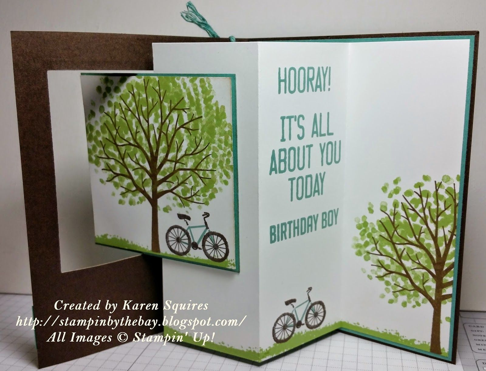 Pop out swing card birthday card sheltering tree tutorials