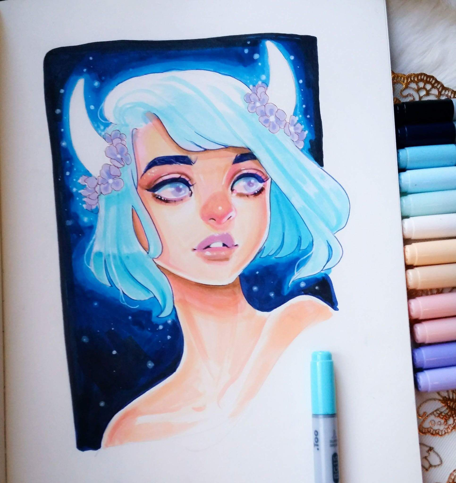 Thirzah From Lord Gris With Images Copic Marker Art Copic