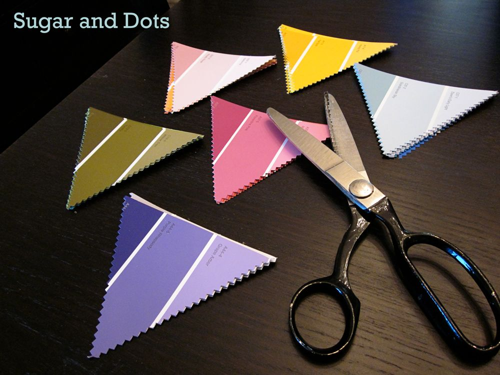 Make Paint Chart Samples Bunting ( - chart samples