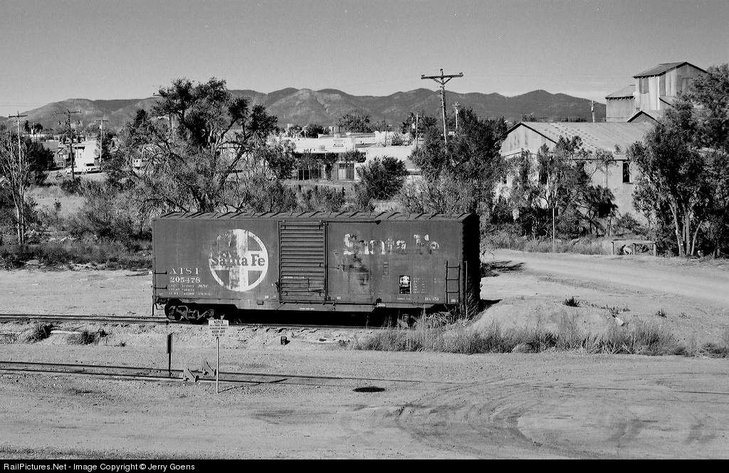 RailPictures.Net Photo: ATSF 205478 Atchison, Topeka & Santa Fe (ATSF) Box Car Bx-151 at Mountainair, New Mexico by Jerry Goens