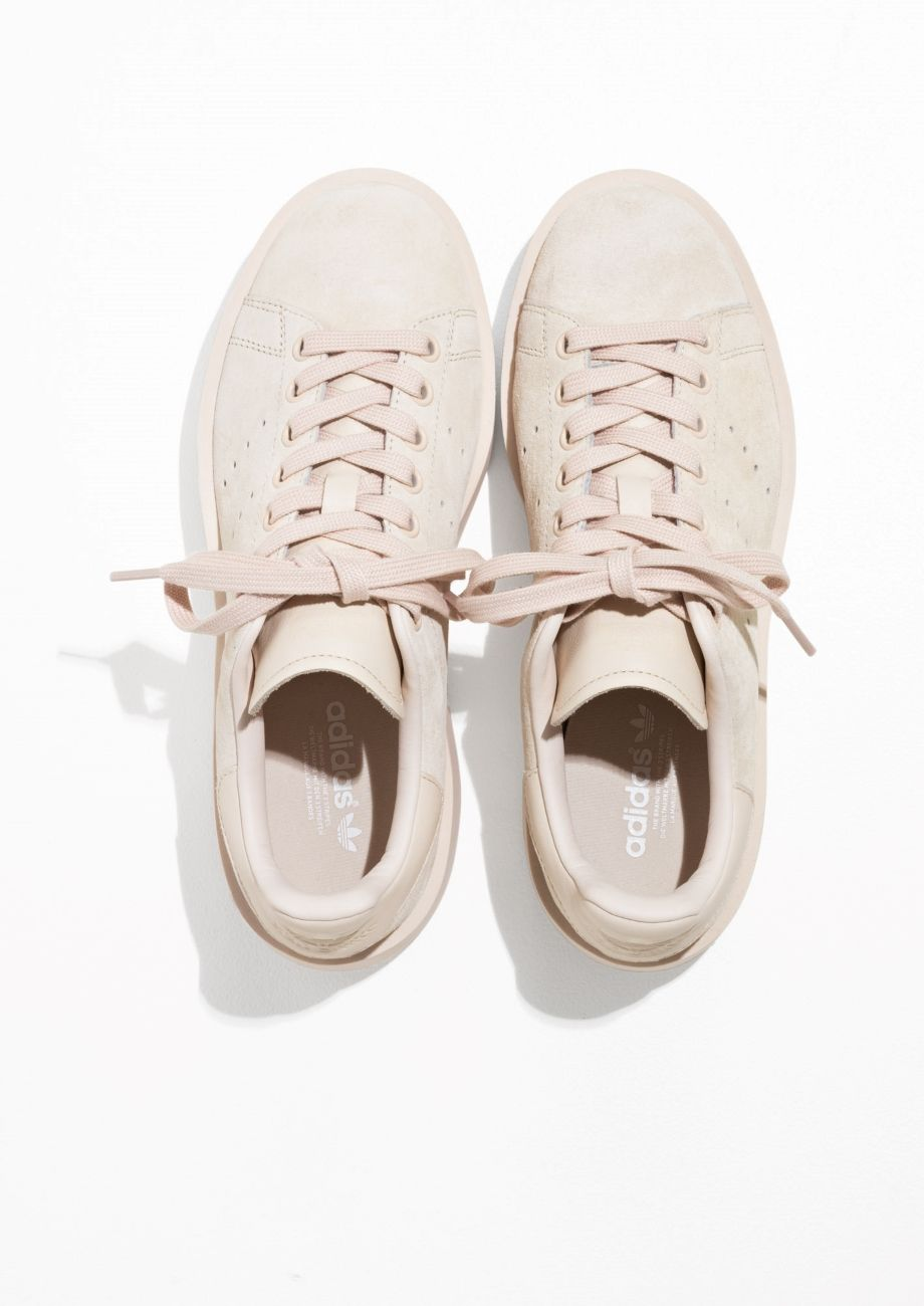 reputable site 60c19 d14c8 Other Stories image 5 of adidas Stan Smith Bold in Beige