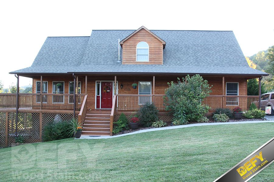 Defy extreme wood stain whole house stain project with - How to stain exterior wood siding ...