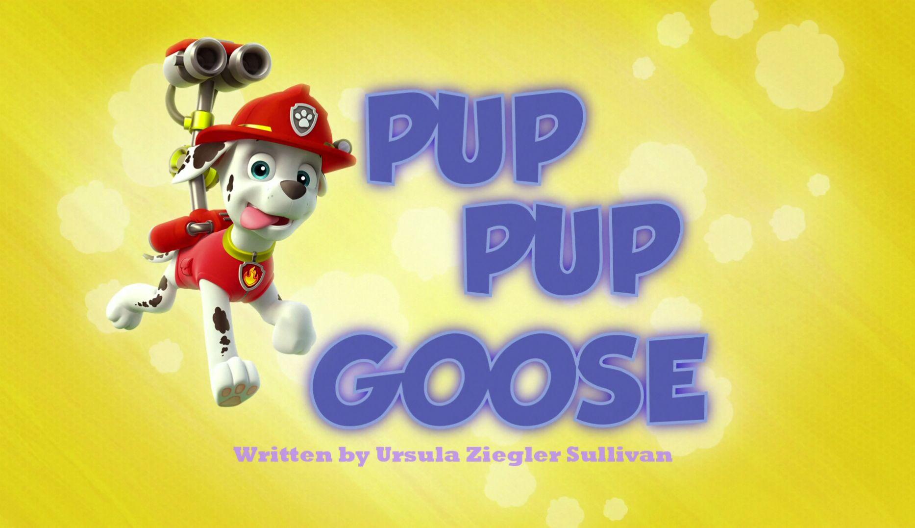 Pup Pup Goose Paw Patrol Episodes Paw Patrol Pup