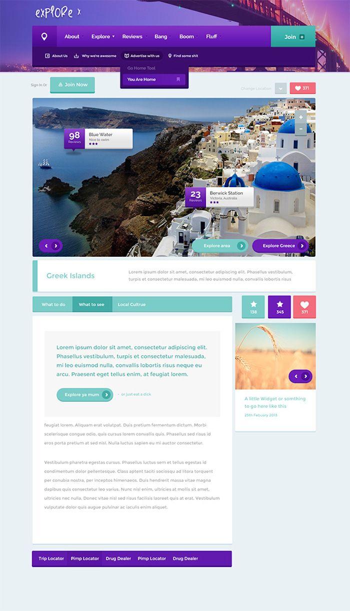 6 Plantillas PSD para paginas web gratis | Pinterest | Paginas web ...
