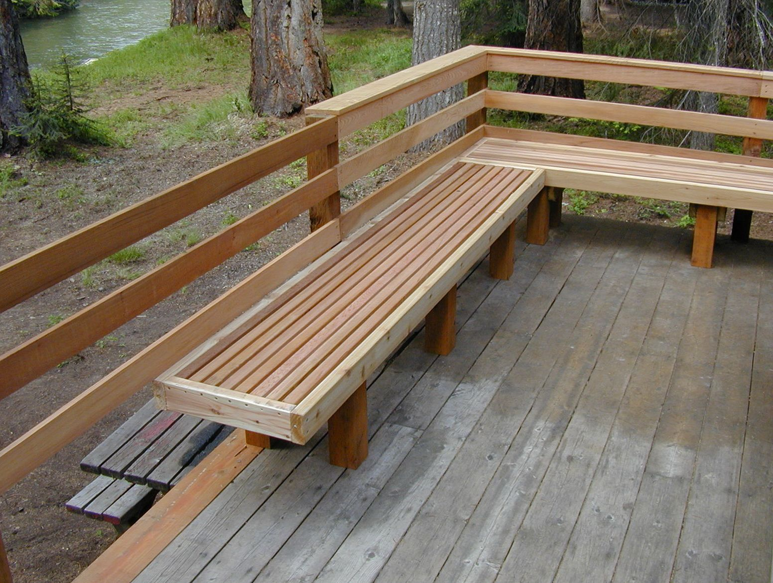 Pin by Russ Weitz on front porch bench Deck seating