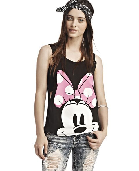 afe41197 <p>Disney's Minnie Mouse™ is cute and chic, so she's the perfect mouse to  rep, like with this loose-fit tank top featuring a close-up image of  Minnie's™ ...