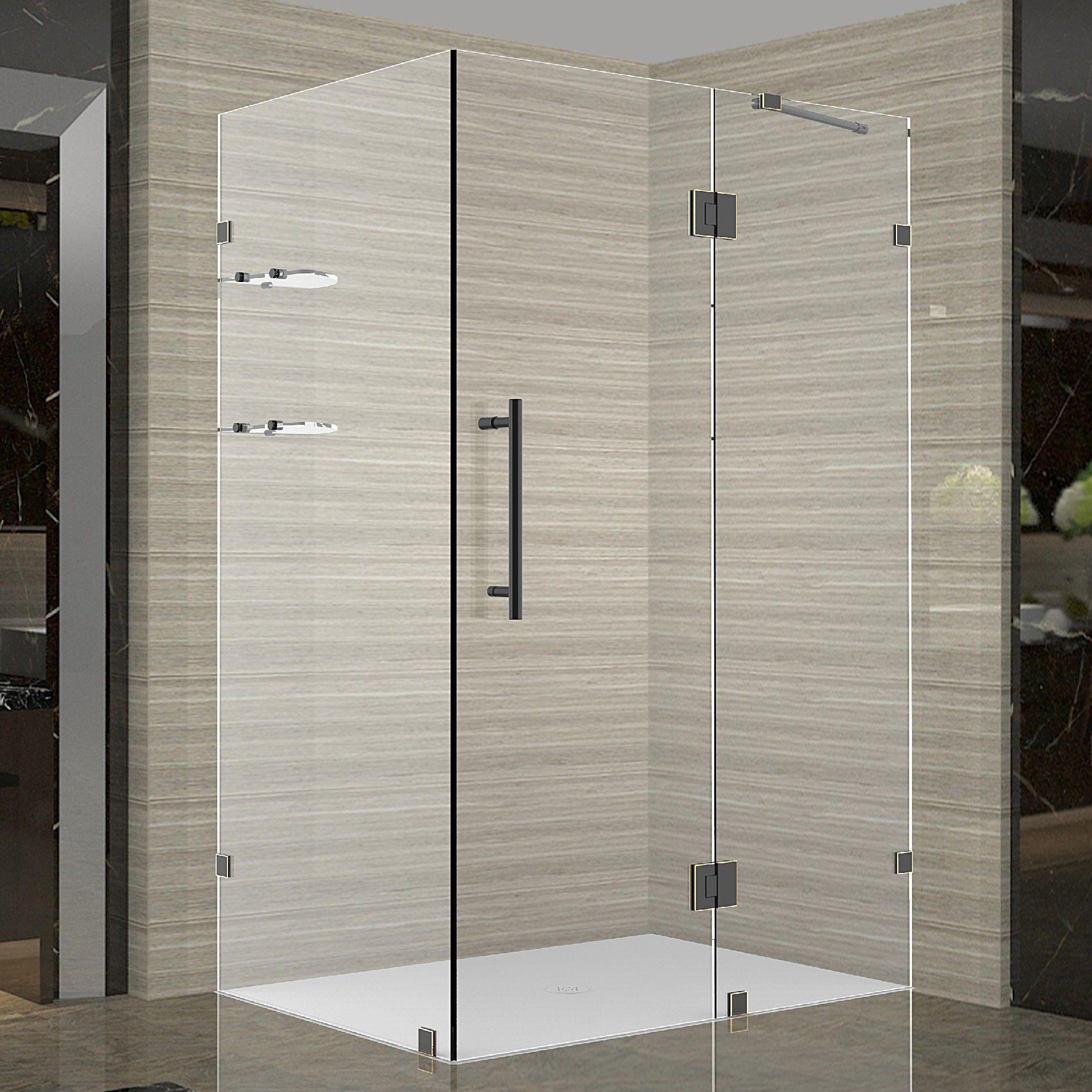 Avalux Gs 34 X 33 X 72 Pivot Door Frameless Shower Enclosure
