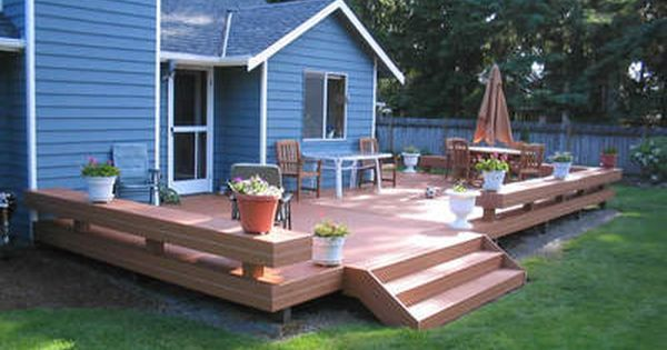 Deck Backyard Ideas cedar sun deck nice two tier 1000 Ideas About Platform Deck On Pinterest Low Deck Simple