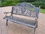 antique bronze garden bench