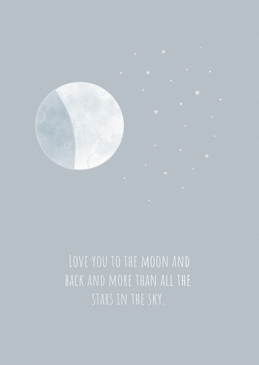 moon and back poster night sky quotes
