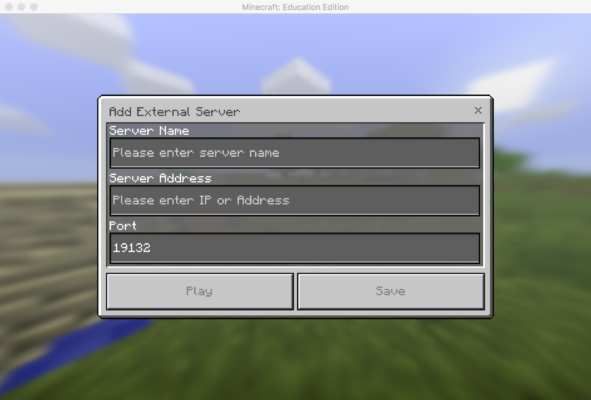 How To Set Up A Multiplayer Game Minecraft Education Edition Support Multiplayer Games Minecraft Multiplayer Name Server