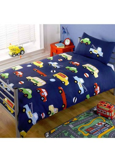 Transport Cars Vans And Trucks Single Bedding Toddler