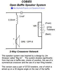 Open Baffle Speaker 2-Way Crossover Schematic | АКУСТИКА |